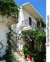 Typical house in Crete island