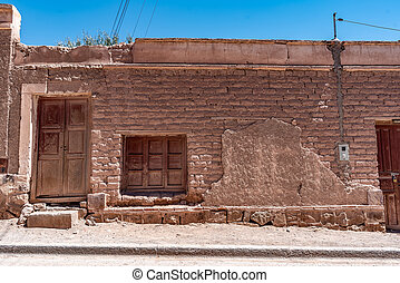 Typical house in Tilcara town, Jujuy, Argentina