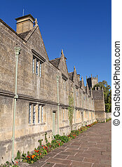 Typical houses in Chipping Camden, famous village in the...