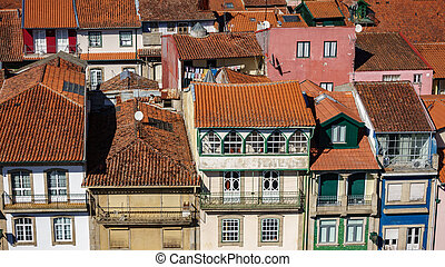 Typical houses in portugal, top view
