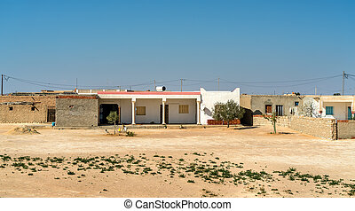 Typical houses in the Tunisian countryside