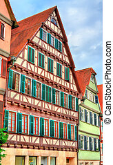 Typical houses in Tubingen - Baden Wurttemberg, Germany -...