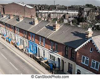 Victorian British terraced housing - Typical iconic...