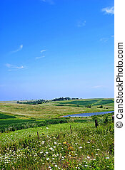 Iowa countryside in late summer