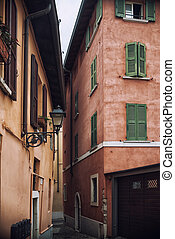 Typical Italian street in a small provincial town