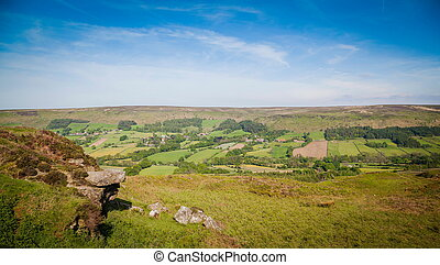 Typical landscape in North York Moors National Park