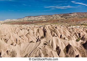 Typical landscape of Cappadocia
