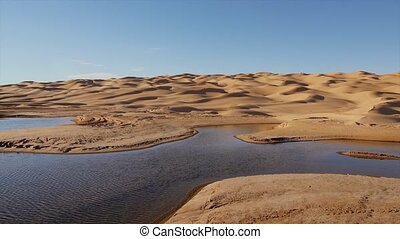 Typical landscape of the Sahara