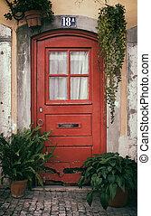 Typical Lisbon Old Door