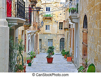 Typical Mediterranean patio