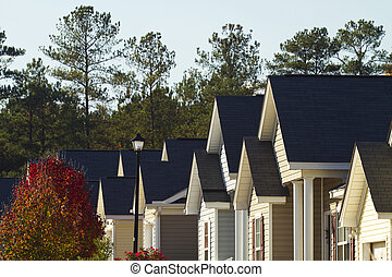 Typical Middle Class American Subdivision - Pointed roof ...