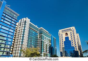 Typical modern building in Doha, Qatar