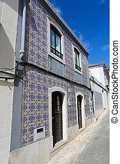 Typical Moorish architecture in Sesimbra, Portugal