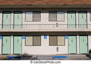 Typical motel, USA