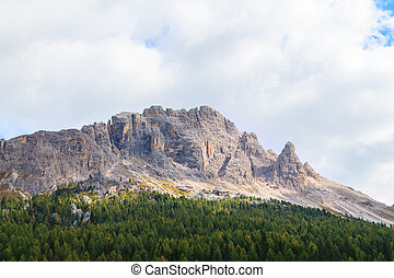 Typical mountain landscape in the Dolomites