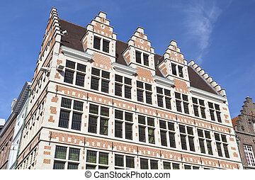 Typical Old Building In Ghent, Belgium