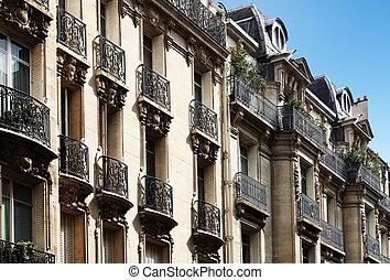 Typical parisian architecture, downtown Paris, France
