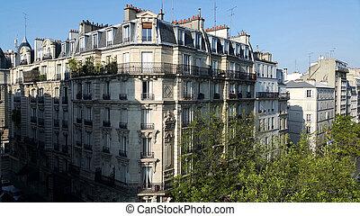 Typical parisian architecture, Paris, France