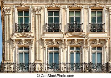 Typical Parisian beautiful building