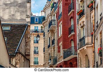 Typical parisian buildings.