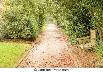 Typical plantation garden