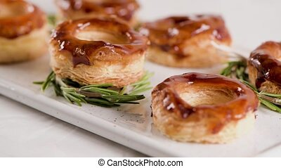 Portuguese pastry Glorias - Typical Portuguese pastry...