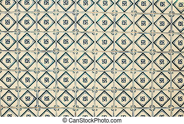 Typical portuguese tiles Abstract colorful wall background
