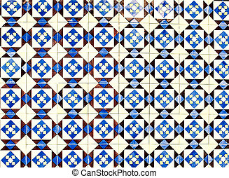 Typical Portuguese tiles, Blue Azulejo, spanish, italian and...