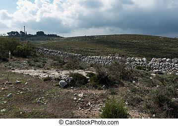 Typical Sicilian dry stone walls