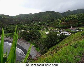 Typical small Hawaiian village