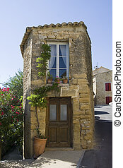 Typical small house in France