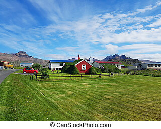 Typical small houses in Iceland