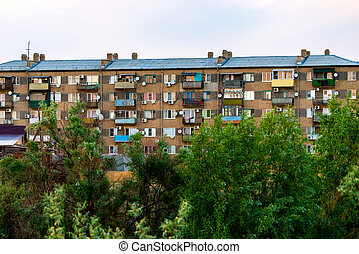 Typical socialistic panel block of appartments. Social housing