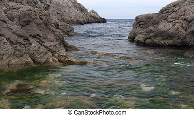 Typical Spanish Costa Brava detail in Catalonia with many...
