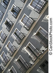 Typical Spanish fasade - Diagonal composition of the typical...