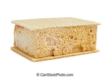 typical spanish helado al corte or corte de helado, ice...