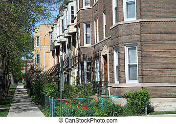 Typical street in Chicago - Typical neighborhood street in ...