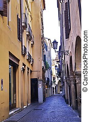 Typical street in the ancient center of Padua