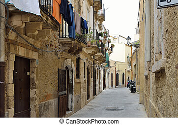 Typical street in the ancient Syracuse