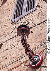 Typical street lamp in Siena