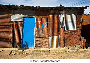 Typical township shack - A typical shack from a township in...