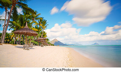 typical tropical beach  Mauritius