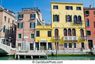 typical urban view in Venice - Italy
