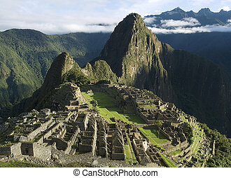 Typical view of Machu Picchu - Typical view of Inca City of...