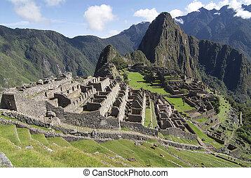 Typical view of Machu Picchu