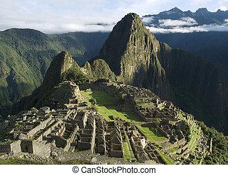 Typical view of Inca City of Machu Picchu, Peru