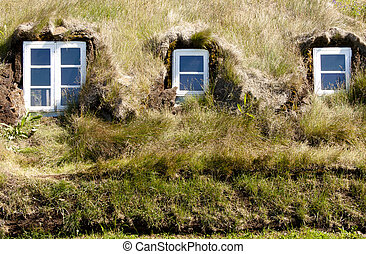 Typical wall in icelandic farm.