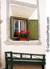 Typical Window - Engadine Switzerland - Typical window with...