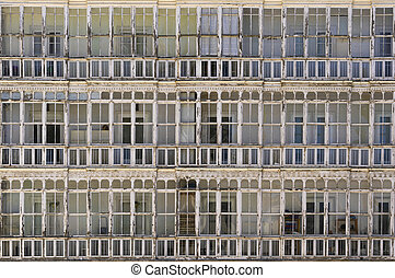 typical window of houses in northern Spain
