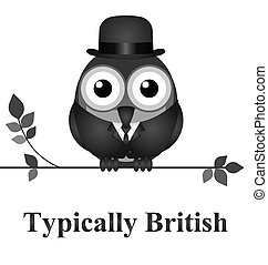 Typically British - Comical bird typically British message...